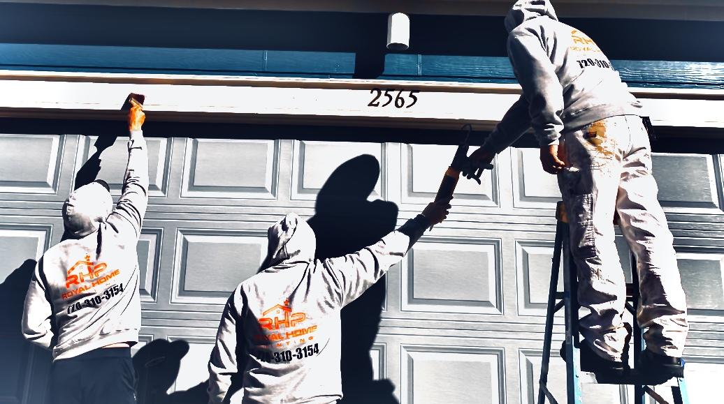 Professional painting crew